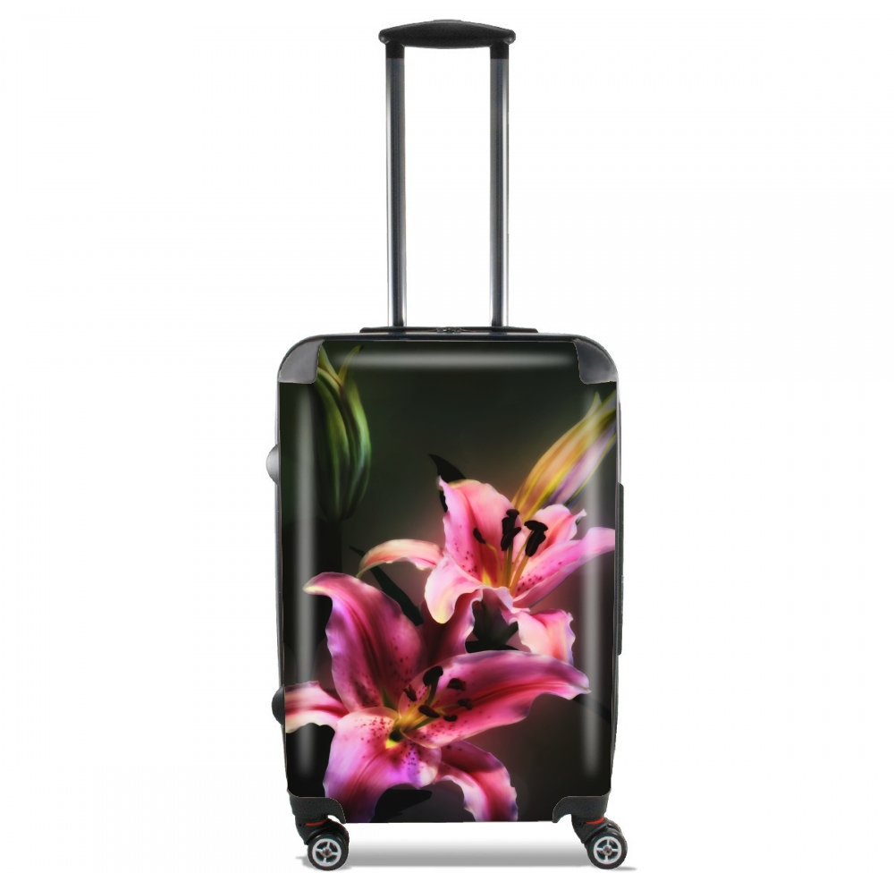 Painting Pink Stargazer Lily for Lightweight Hand Luggage Bag - Cabin Baggage