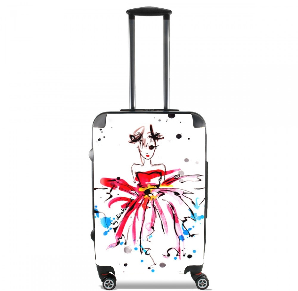 Pink Fashion Girl for Lightweight Hand Luggage Bag - Cabin Baggage