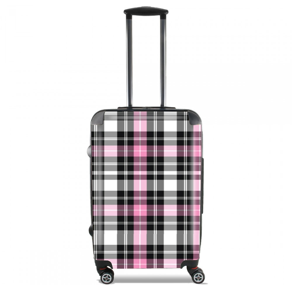 Pink Plaid for Lightweight Hand Luggage Bag - Cabin Baggage