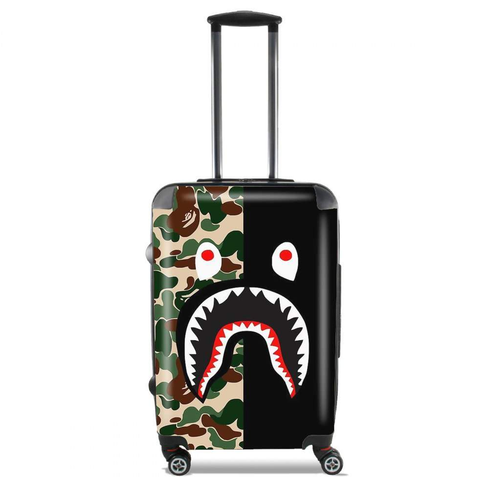 Shark Bape Camo Military Bicolor for Lightweight Hand Luggage Bag - Cabin Baggage
