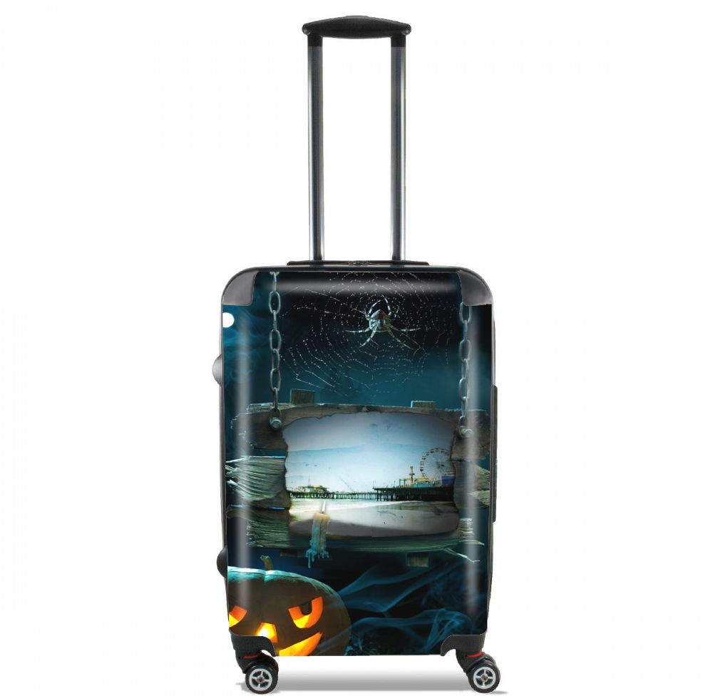 Spooky Halloween Santa Monica Pier for Lightweight Hand Luggage Bag - Cabin Baggage