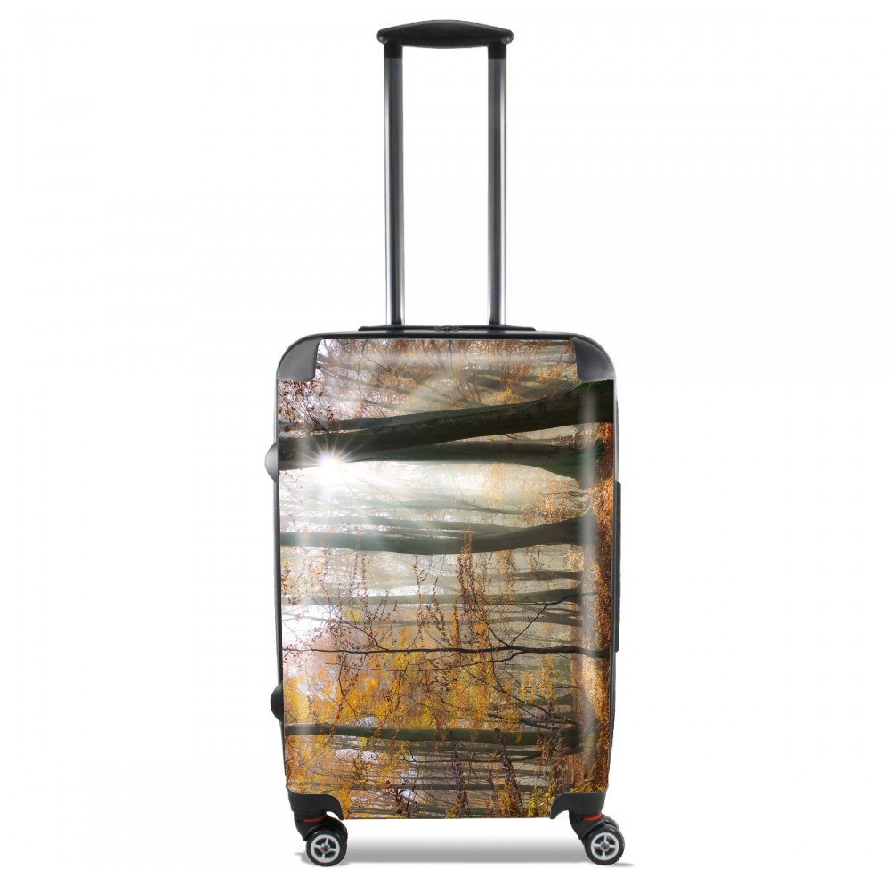 Sun rays in a mystic misty forest for Lightweight Hand Luggage Bag - Cabin Baggage