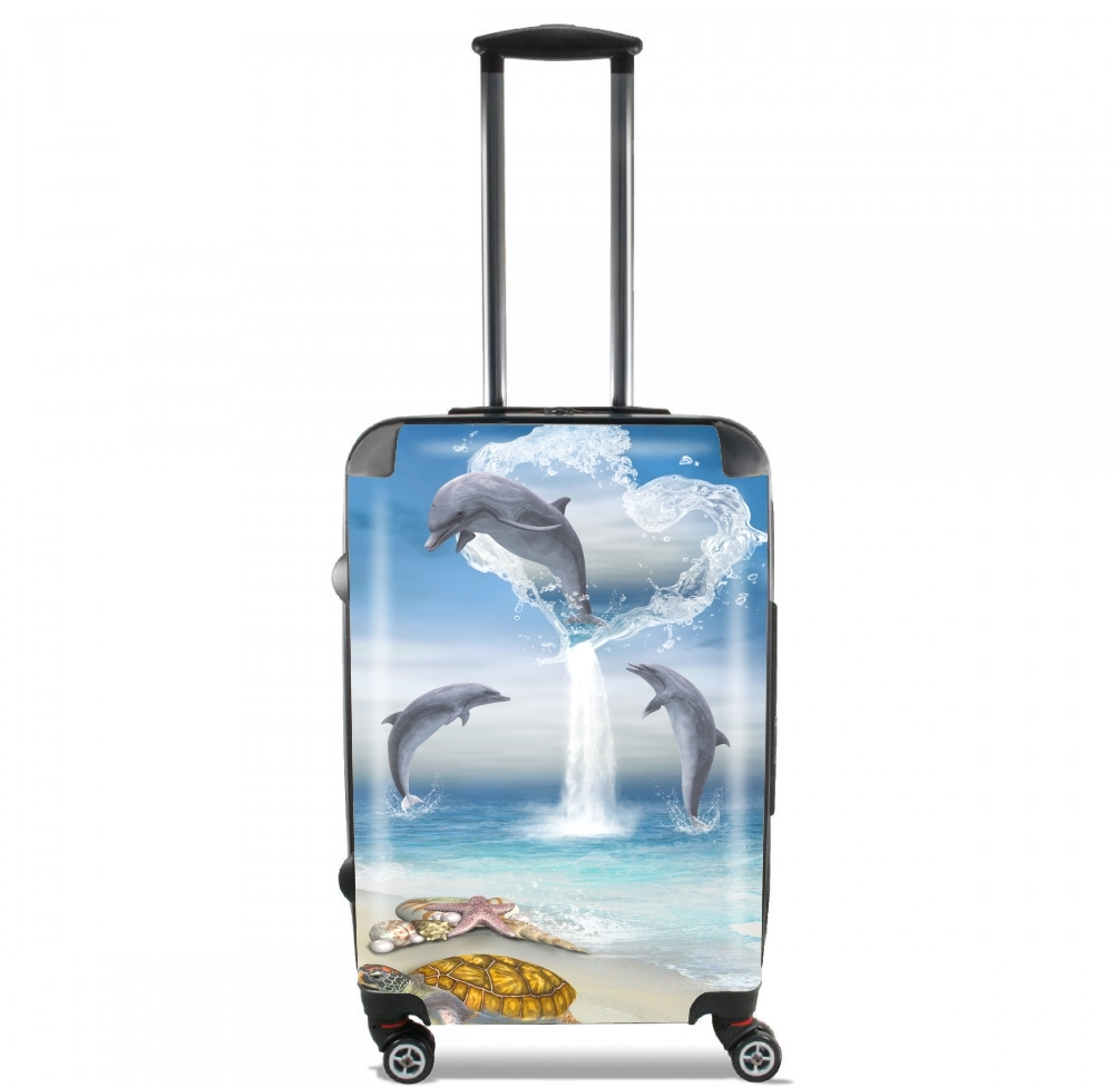 The Heart Of The Dolphins for Lightweight Hand Luggage Bag - Cabin Baggage