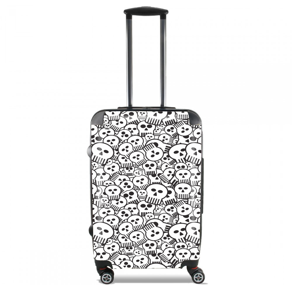 toon skulls, black and white for Lightweight Hand Luggage Bag - Cabin Baggage
