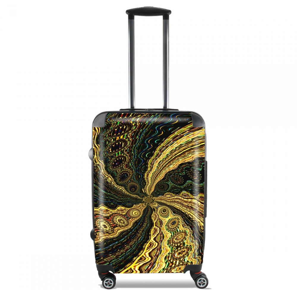 Twirl and Twist black and gold for Lightweight Hand Luggage Bag - Cabin Baggage