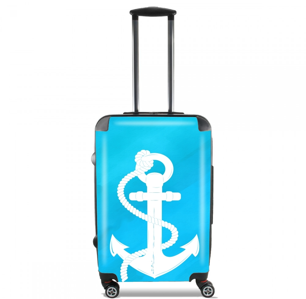 White Anchor for Lightweight Hand Luggage Bag - Cabin Baggage