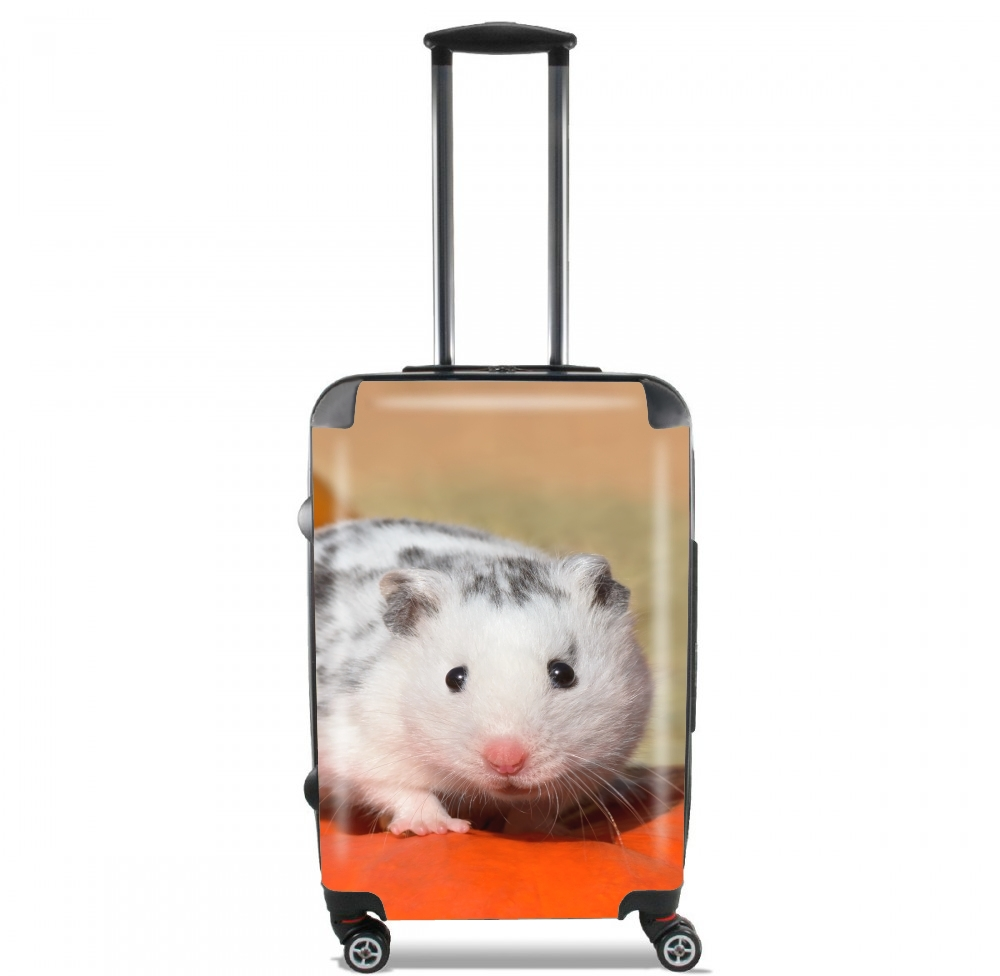 White Dalmatian Hamster with black spots  for Lightweight Hand Luggage Bag - Cabin Baggage